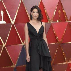 Garbiñe Muguruza en la alfombra roja de los Premios Oscar 2018