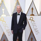 Christopher Plummer en la alfombra roja de los Premios Oscar 2018
