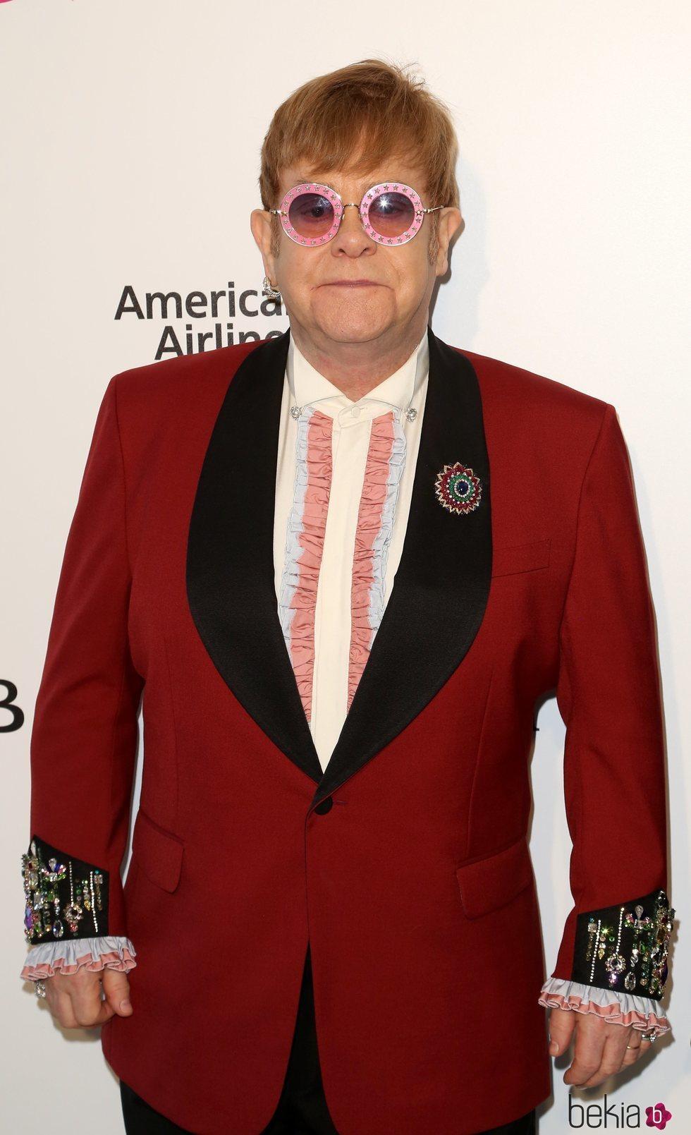 Elton John en la fiesta de la Fundación Elton John tras los Oscar 2018