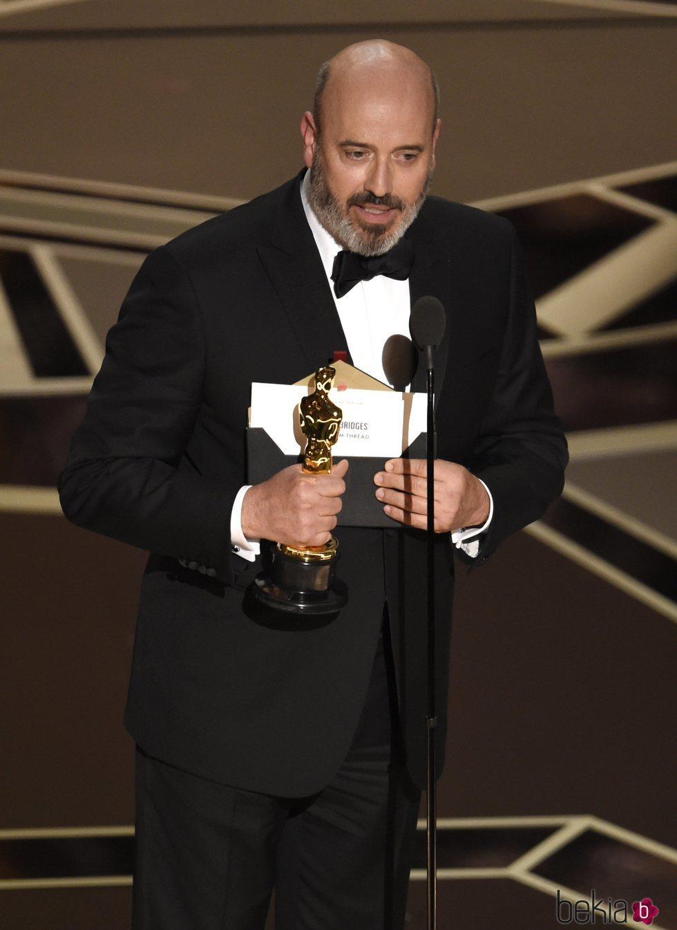Mark Bridges recoge su Oscar 2018 al mejor diseño de vestuario