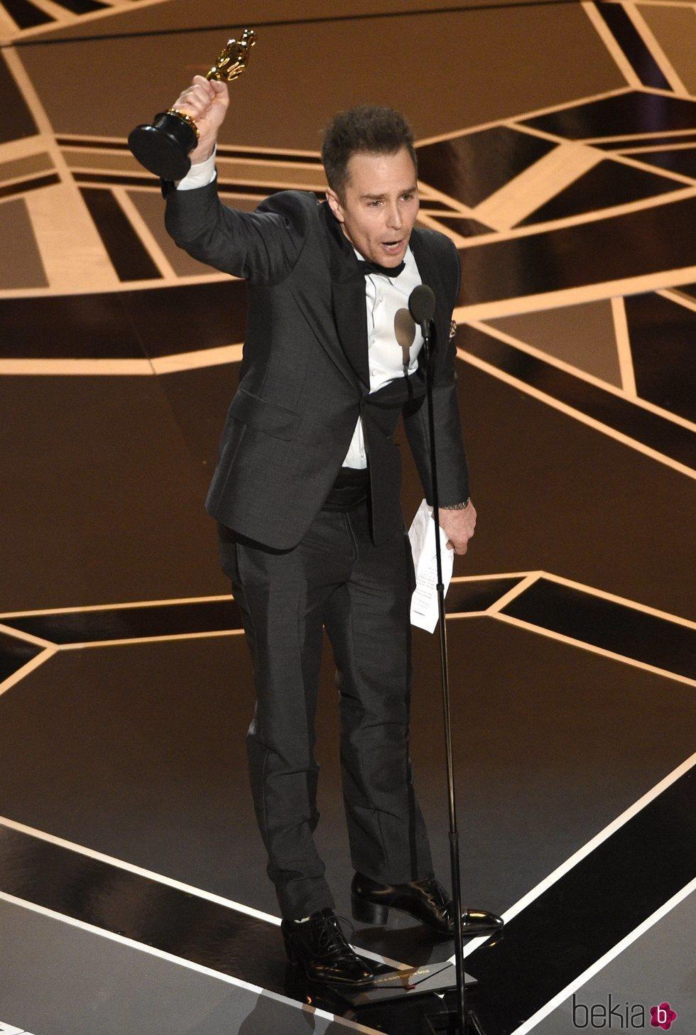 Sam Rockwell gana el Oscar 2018 a mejor actor secundario