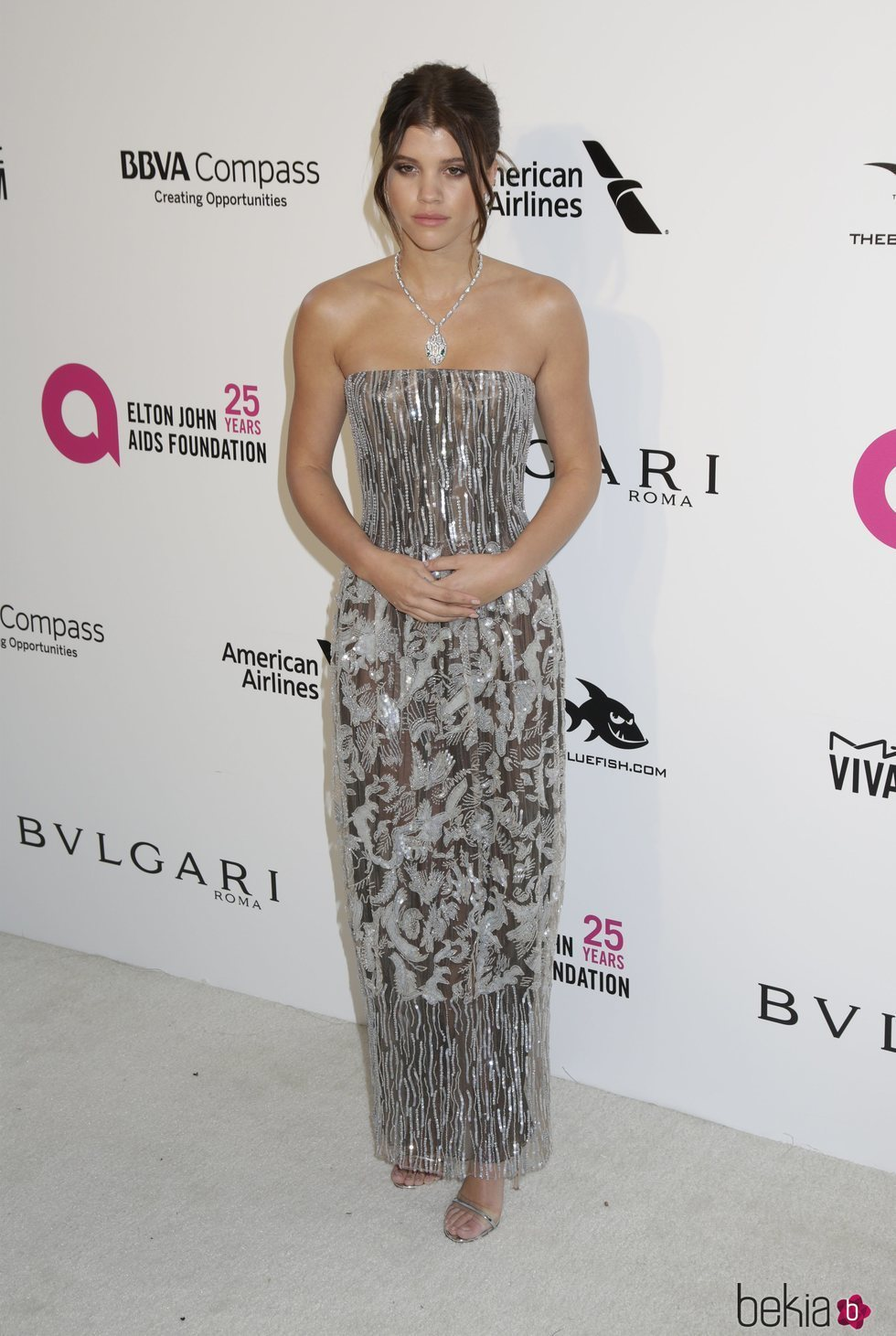 Sofia Richie en la fiesta de la Fundación Elton John tras los Oscar 2018