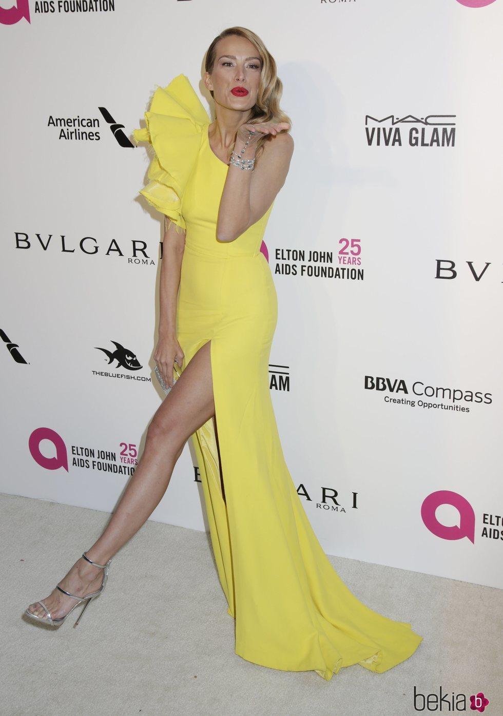 Petra Nemcova en la fiesta de la Fundación Elton John tras los Oscar 2018