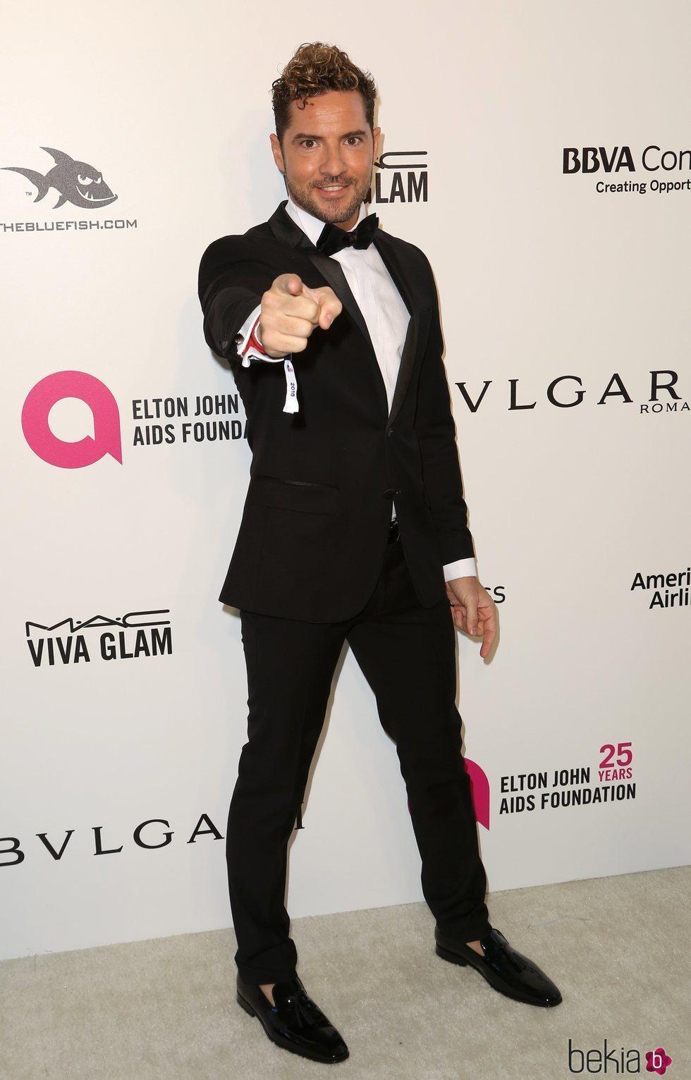 David Bisbal en la fiesta de la Fundación Elton John tras los Oscar 2018