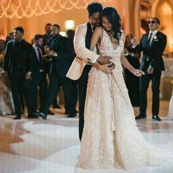 Chanel Iman y Sterling Shepard bailan en su boda