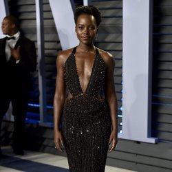 Lupita Nyong'o en la fiesta Vanity Fair tras los Oscar 2018