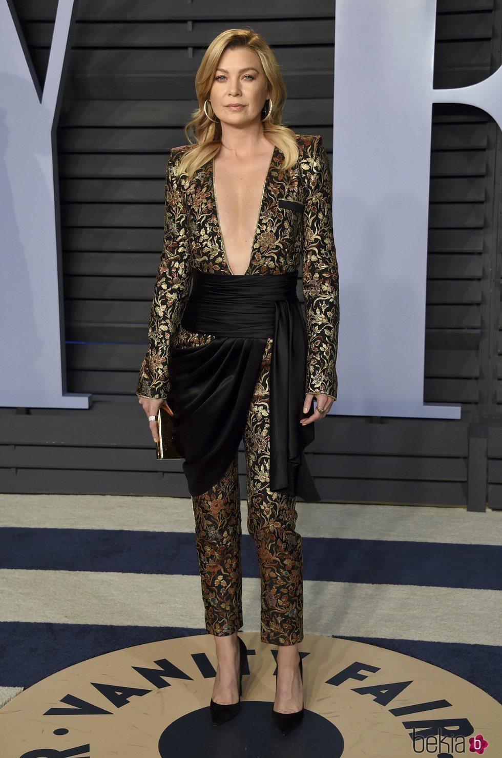 Ellen Pompeo en la fiesta Vanity Fair tras los Oscar 2018