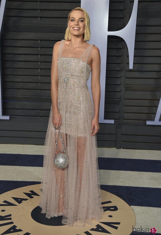 Margot Robbie en la fiesta Vanity Fair tras los Oscar 2018