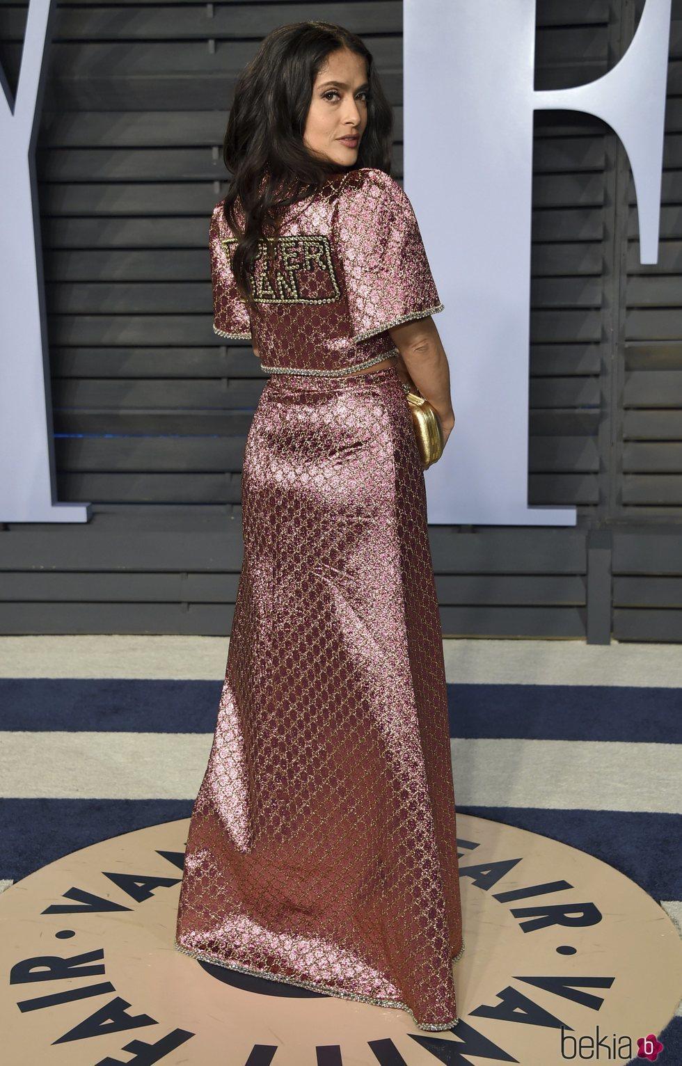 Salma Hayek en la fiesta Vanity Fair tras los Oscar 2018