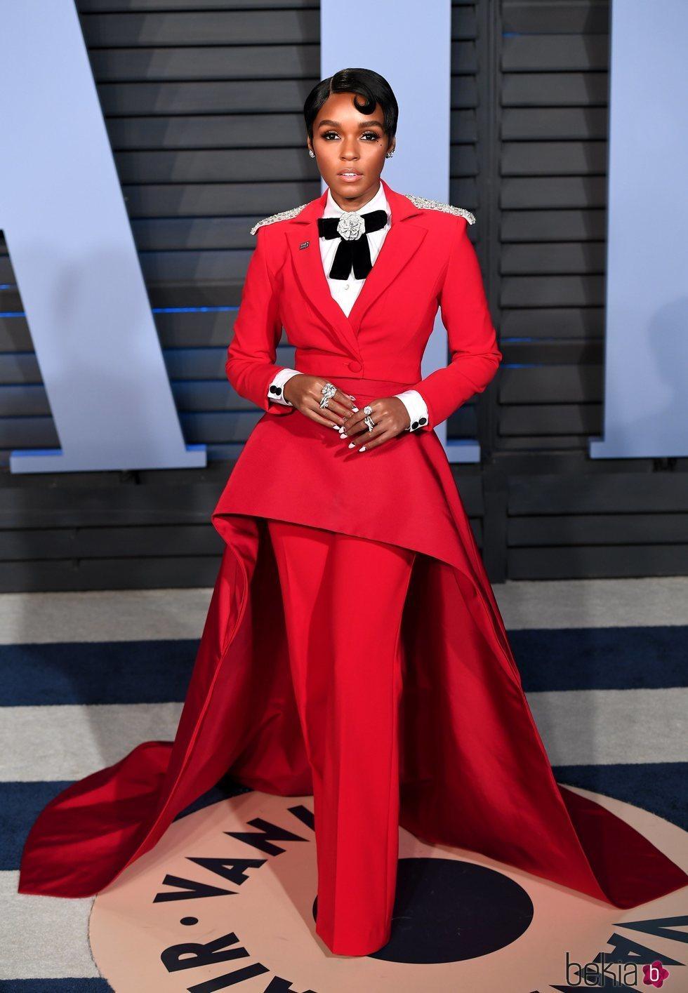 Janelle Monae en la fiesta Vanity Fair tras los Oscar 2018