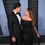 Joe Manganiello y Sofía Vergara en la fiesta Vanity Fair tras los Oscar 2018