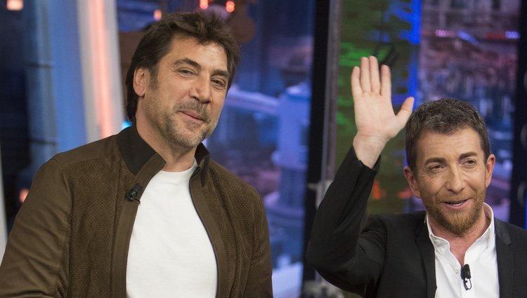 Javier Bardem con Pablo Motos en 'El Hormiguero'