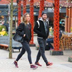 Juan Mata y Evalina Kamph muy felices en Manchester