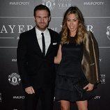 Juan Mata y Evalina Kamph en la gala Manchester United Player of The Year Awards 2016