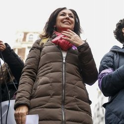 Isabel Gemio en la huelga del 8 de marzo por el Día de las Mujeres