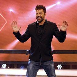 Ricky Martin bailando en 'El hormiguero'