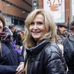 Nieves Herrero en la huelga del 8 de marzo por el Día de las Mujeres