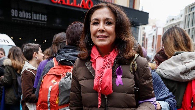 Isabel Gemio en la huelga por el Día de las Mujeres del 8 de marzo