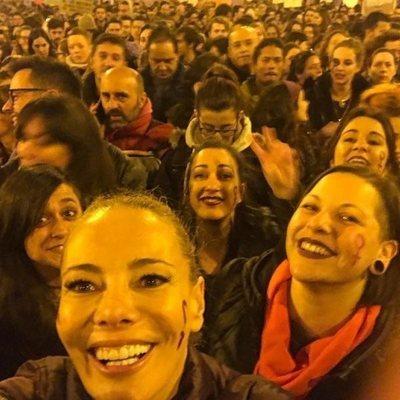 Paula Vázquez en la manifestación del 8 de marzo por el Día de las Mujeres