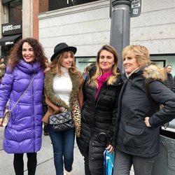 Cristina Rodríguez, Emma García, Carlota Corredera y Mercedes Milá en el Día de las Mujeres