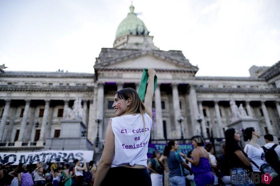 Manifestación por el Día de las Mujeres en Argentina