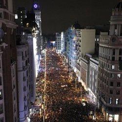 Marea de mujeres en la manifestación de Madrid por el Día de las Mujeres