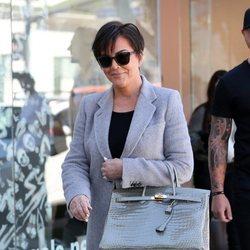 Kris Jenner durante la grabación de su reality en Beverly Hills