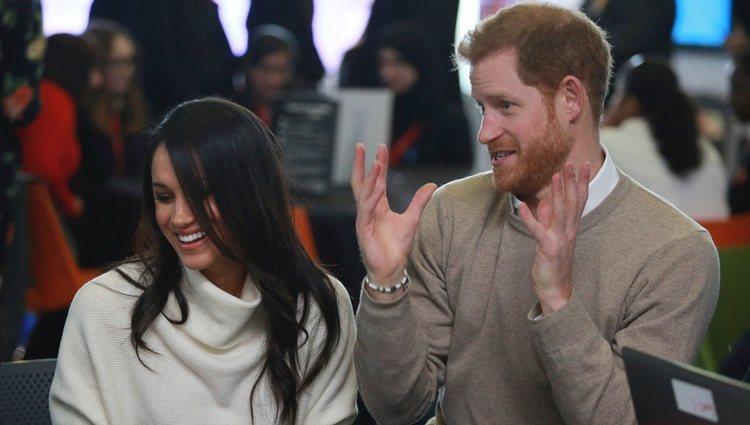 El Príncipe Harry y Meghan Markle en Millennium Point en Birmingham