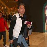 Fernando Marcos en la salida de los concursantes de 'Supervivientes 2018' hacia Honduras