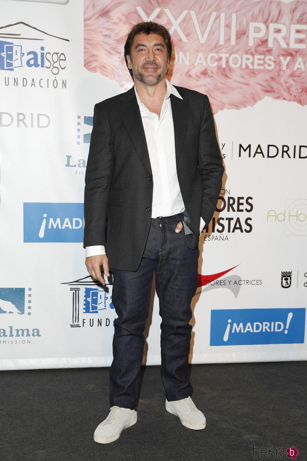 Javier Bardem en el photocall de los Premios Unión de Actores 2018
