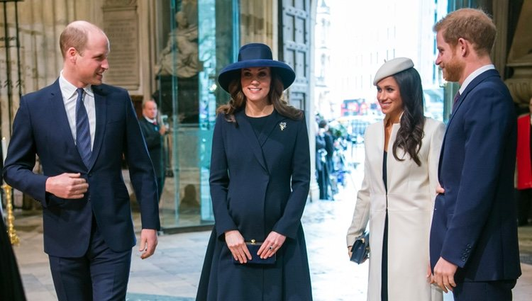 Los Duques de Cambridge, el Príncipe Harry y Meghan Markle en el Día de la Commonwealth 2018