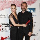 Silvia Abascal y su novio Xabier Murua en el photocall de los Premios Unión de Actores 2018