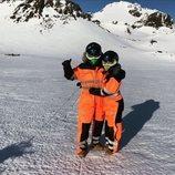 Cristiano Ronaldo y Georgina Rodríguez vestidos para disfrutar de la nieve