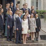 Christian de Hannover y Alessandra de Osma posan con sus invitados tras su boda civil