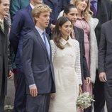 Christian de Hannover y Alessandra de Osma tras su enlace civil