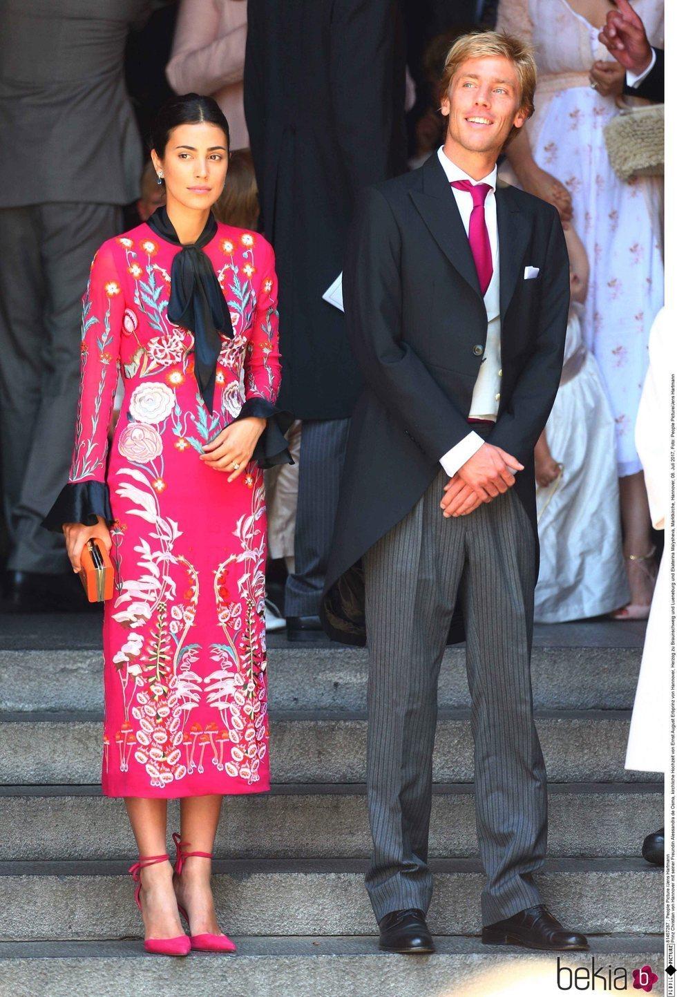 Christian de Hannover y Alessandra de Osma en la boda de Ernesto de Hannover y Ekaterina Malysheva