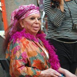 Carmen de Mairena en el rodaje de 'Torrente 4'