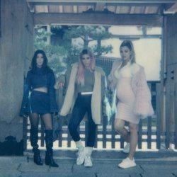 Las hermanas Kardashian en su viaje a Tokio en 2018