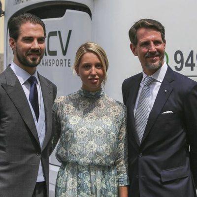 Los Príncipes Pablo, Olympia y Felipe de Grecia en la boda de Christian y Sassa de Hannover