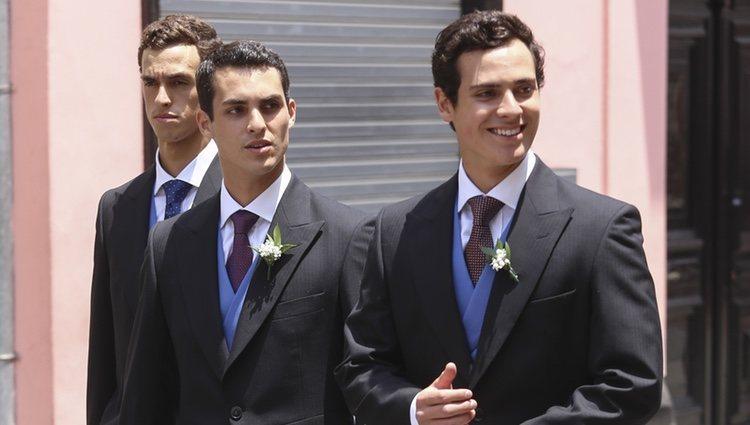 Felipe, Vasco y Juan Manuel de Osma en la boda de Christian de Hannover y Alessandra de Osma