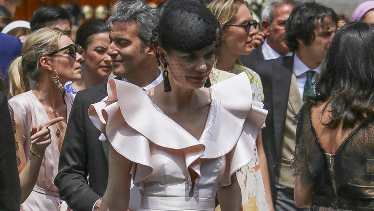 Alejandra de Rojas en la boda de Christian de Hannover y Alessandra de Osma