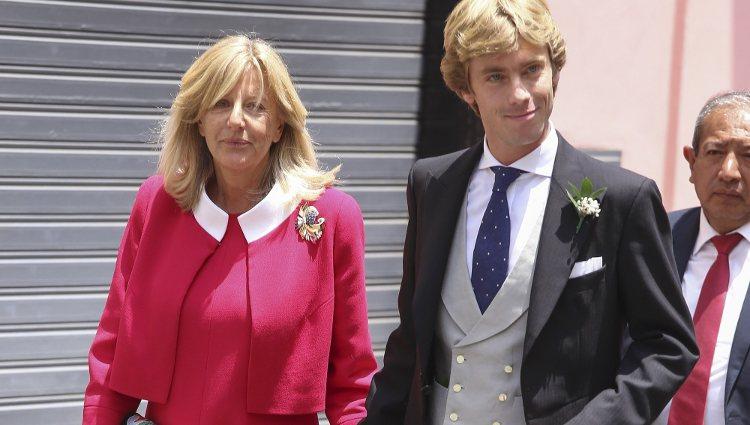 El Príncipe Christian de Hannover con su madre, Chantal Hochuli