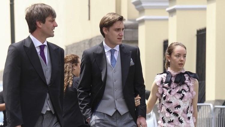 El Príncipe Ernesto Augusto de Hannover con su hermana Alexandra de Hannover