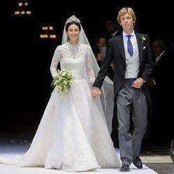 Christian de Hannover y Alessandra de Osma recién casados