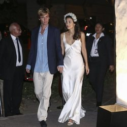 El Príncipe Christian de Hannover y su esposa Sassa de Osma en el cocktail posterior a su enlace