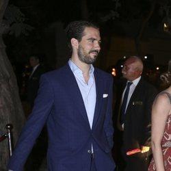 El Príncipe Felipe de Grecia en el cocktail posterior a la boda de Christian y Sassa de Hannover