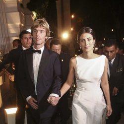 El Príncipe Christian de Hannover y Alessandra de Osma llegando a su fiesta de largo