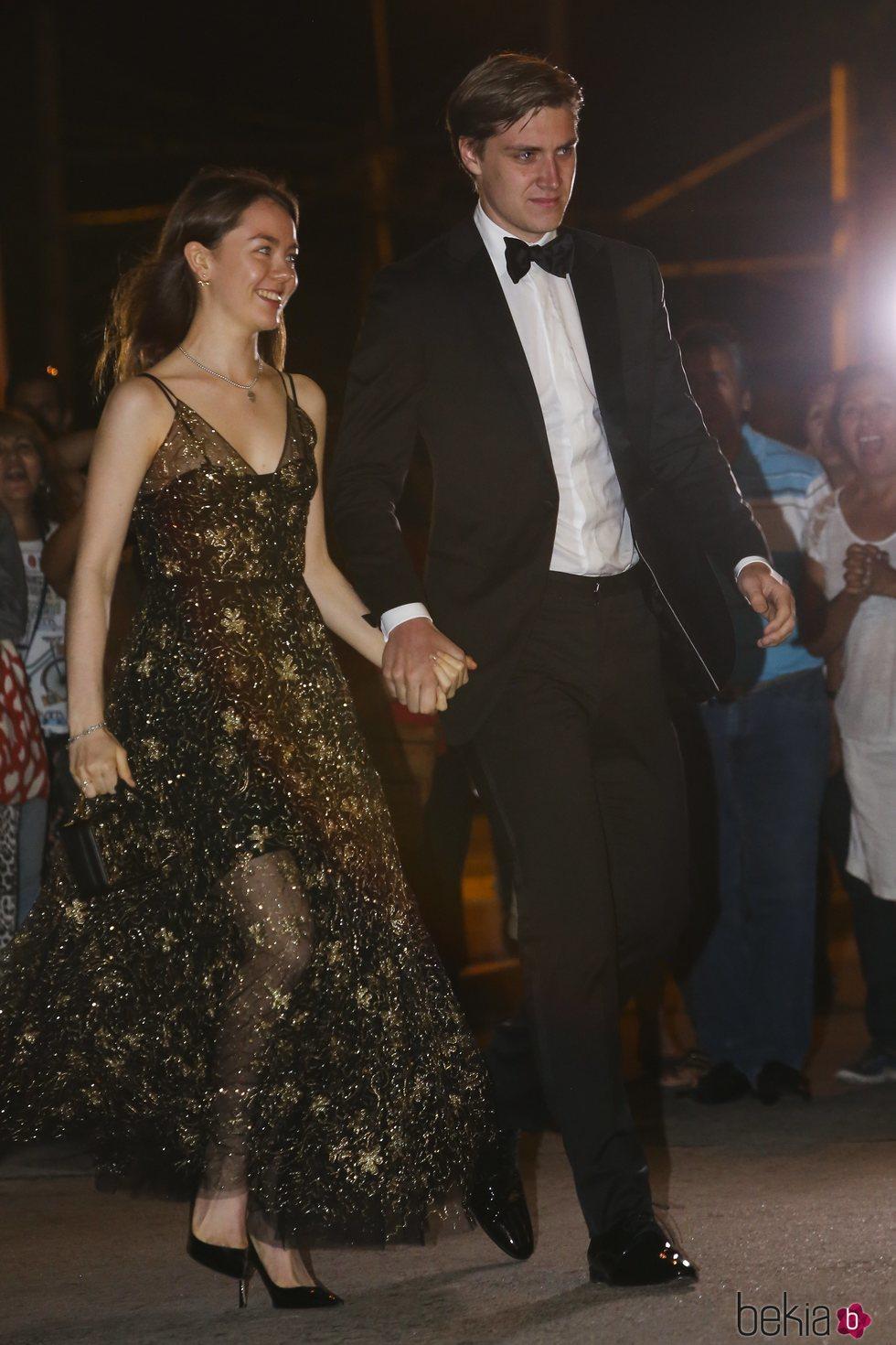 La Princesa Alexandra de Hannover y su novio Ben-Sylvester Strautmann en la fiesta de largo de Christian y Sassa de Hannover