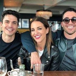 Álex González, Paula Echevarría y Miguel Ángel Silvestre en Los Angeles
