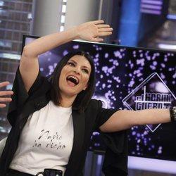 Laura Pausini de lo más divertida durante su última visista a 'El Hormiguero'